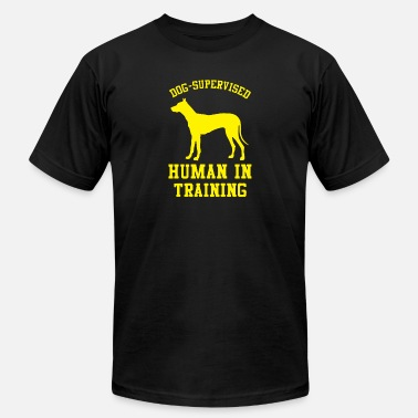 Trained Dog Dog Supervised Human in Training - Men's Jersey T-Shirt
