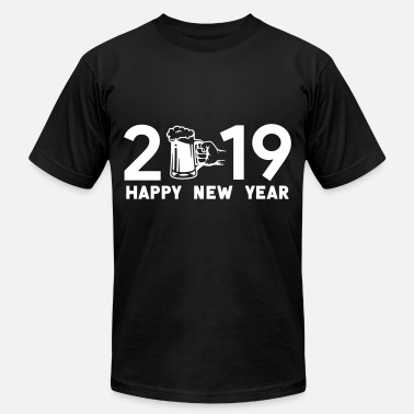 New Rave Happy new year 2019 - Unisex Jersey T-Shirt