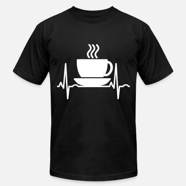 Heartbeat Love Love coffee heartbeat love for coffee - Men's  Jersey T-Shirt