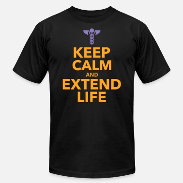 Life Extending Keep Calm and Extend Life - Unisex Jersey T-Shirt