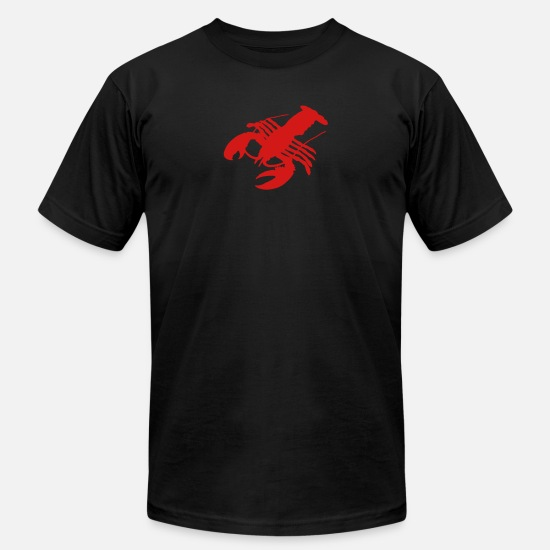 Crustacean T-Shirts - lobster Crab crawfish crayfish crustacean delicacy - Men's Jersey T-Shirt black
