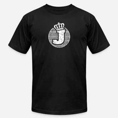 Lettering Crown Name Letter J Character Case Alphabetical Crown - Men's  Jersey T-Shirt