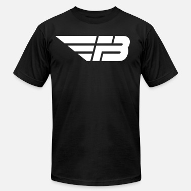 Mens Black Logo White - Unisex Jersey T-Shirt