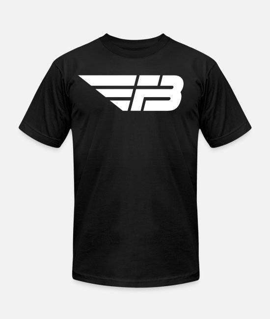 Factorb T-Shirts - Mens Black Logo White - Unisex Jersey T-Shirt black