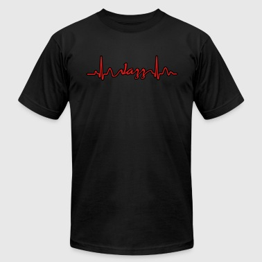 Lines of Heart electrocardiogram heart pulse Jazz - Men's Fine Jersey T-Shirt