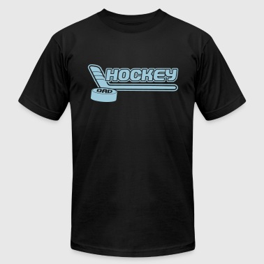 Hockey Dad (stick and puck design) - Men's Fine Jersey T-Shirt