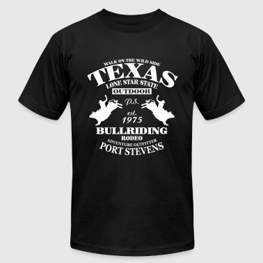 Texas Bullriding Rodeo - The Lone Star State - Men's Fine Jersey T-Shirt