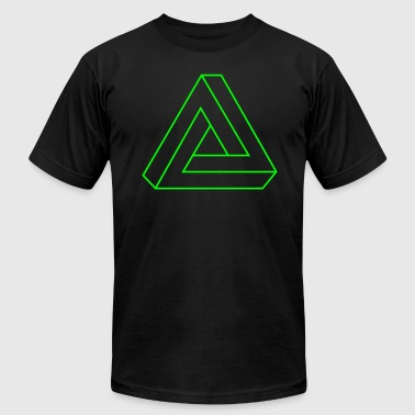 Penrose Triangle Impossible Triangle - Men's Fine Jersey T-Shirt