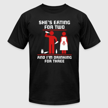eating for two drinking for three - Men's Fine Jersey T-Shirt