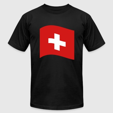 Switzerland, swiss flag - Men's Fine Jersey T-Shirt