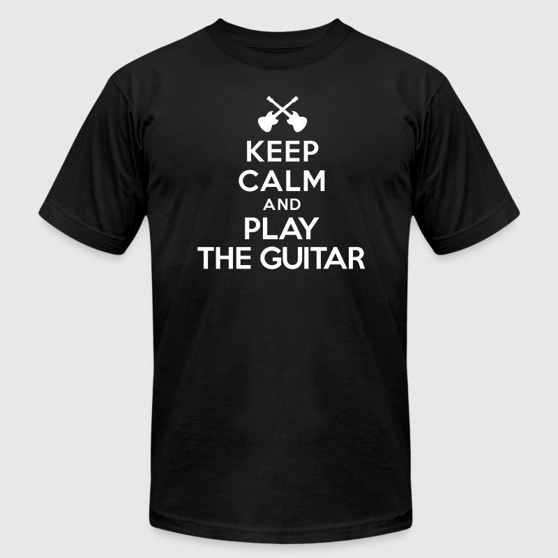 Keep calm and play the guitar - Men's Fine Jersey T-Shirt