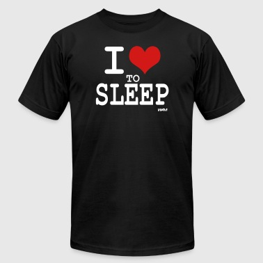 i love to sleep by wam - Men's Fine Jersey T-Shirt