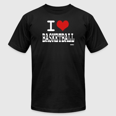 i love basketball by wam - Men's Fine Jersey T-Shirt