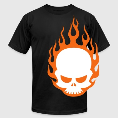 Skull In Flames - Men's Fine Jersey T-Shirt