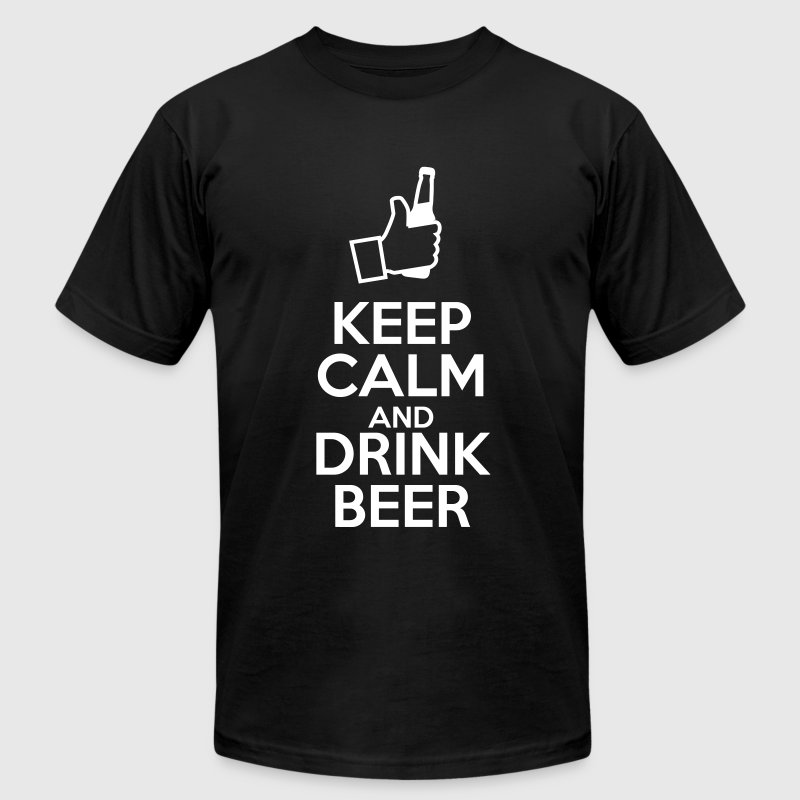 Keep Calm and Drink Beer - Men's Fine Jersey T-Shirt