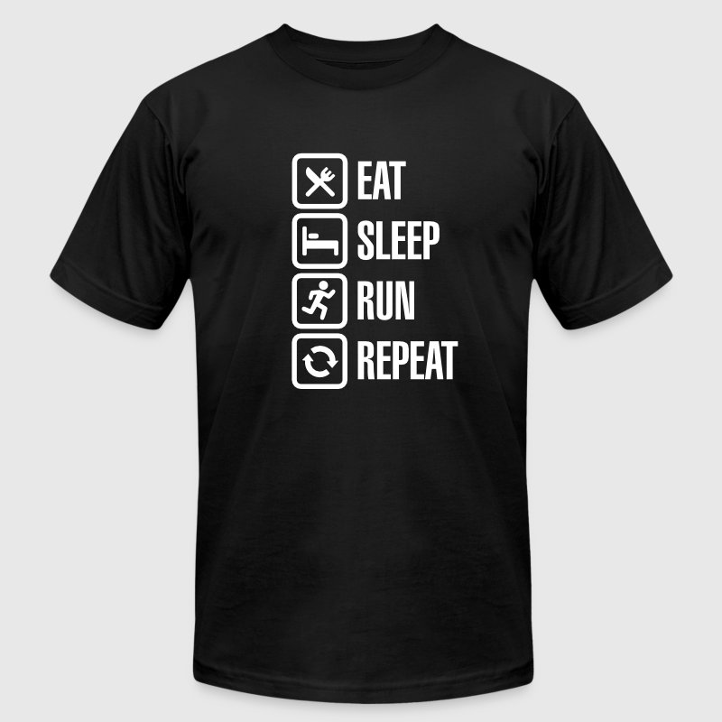Eat sleep run repeat - Men's Fine Jersey T-Shirt