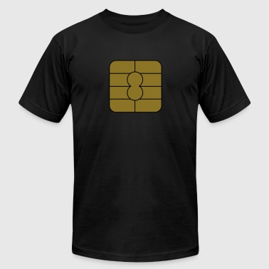 microchip credit card_m1 - Men's Fine Jersey T-Shirt