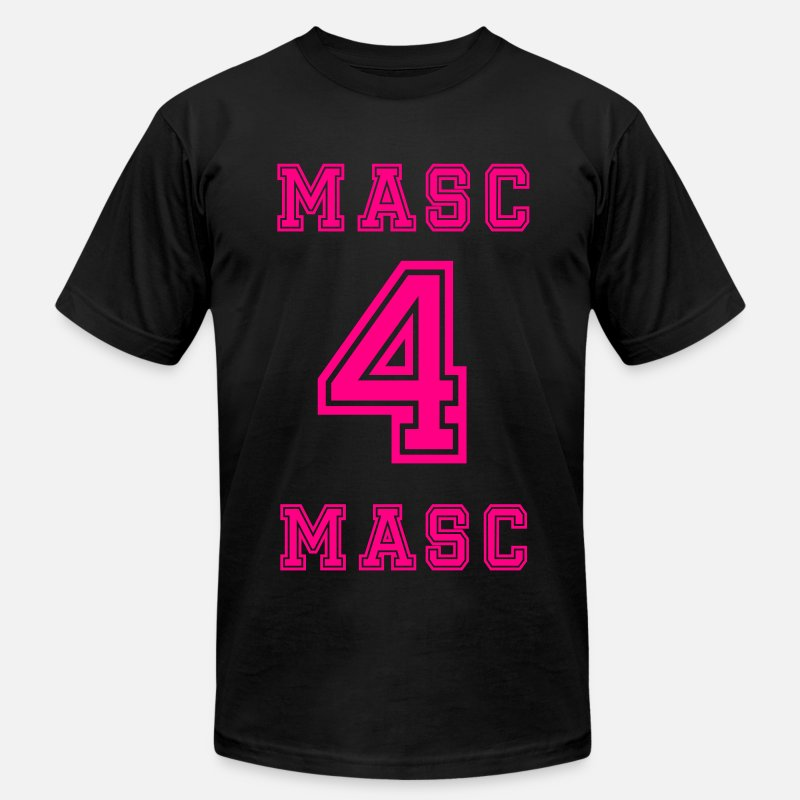 Football T-Shirts - Masc 4 Masc Neon Pink - Men's Jersey T-Shirt black