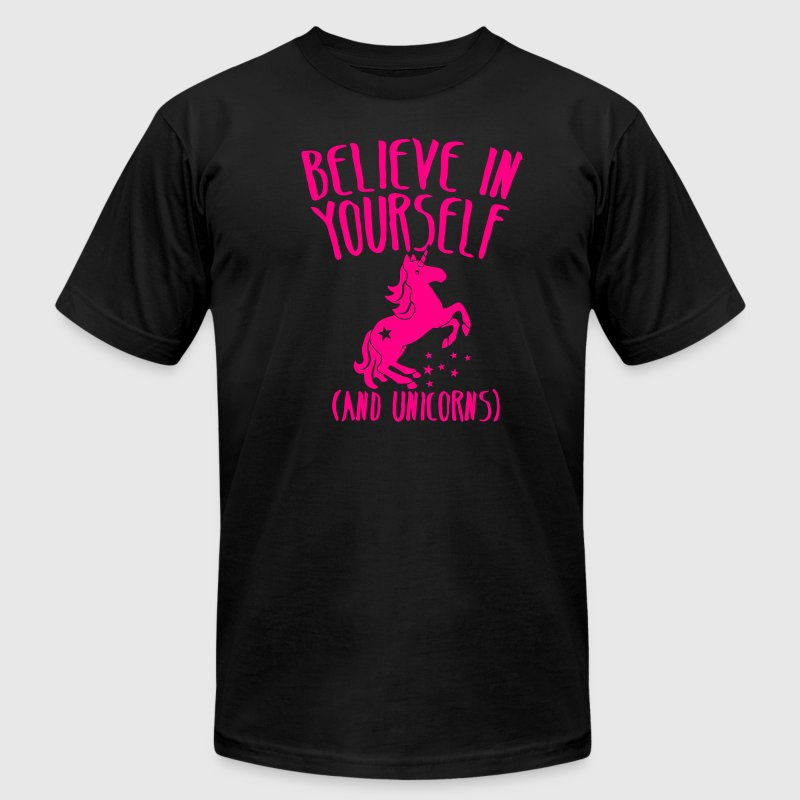 Believe in yourself (and unicorns!) - Men's Fine Jersey T-Shirt