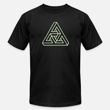 Triangle Knot Triangle geometry endless knot infinity mathematic - Men's  Jersey T-Shirt