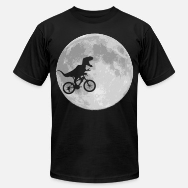 Dinosaur Dinosaur Bike and MOON - Men's  Jersey T-Shirt