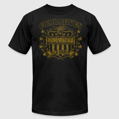 Combatives Shield Distressed.png - Men's Fine Jersey T-Shirt
