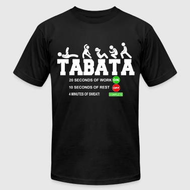 Tabata Cardio Bootcamp On/Off Workout Timer T-Shir - Men's Fine Jersey T-Shirt