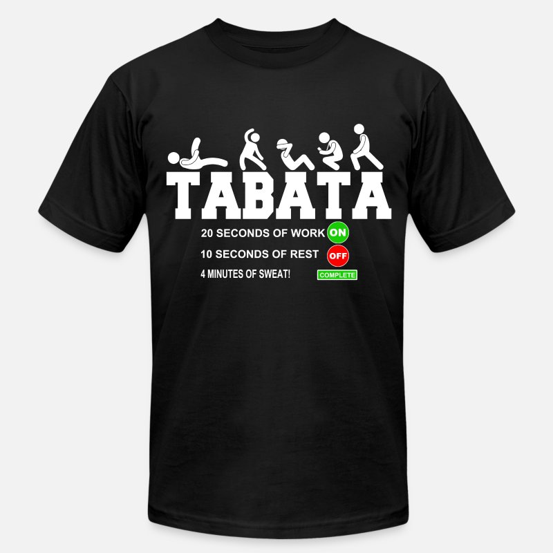 Cardio T-Shirts - Tabata Cardio Bootcamp On/Off Workout Timer T-Shir - Men's Jersey T-Shirt black