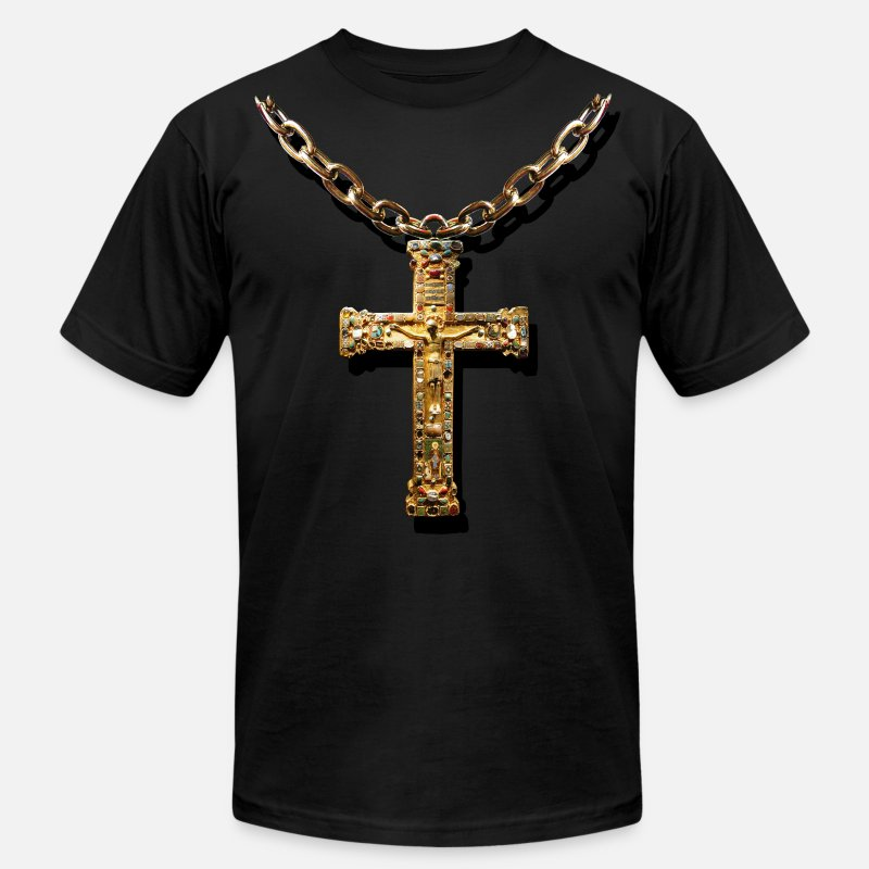 Crucifix T-Shirts - crucifix - Men's Jersey T-Shirt black