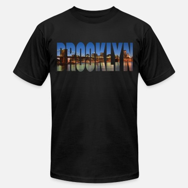 Brooklyn Bridge Brooklyn - Men's  Jersey T-Shirt