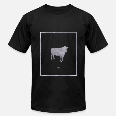 1901 Cow shirt 1901 - gift idea - Men's Fine Jersey T-Shirt