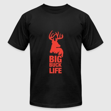 Buck Life Big Buck Life Deer Hunter Hunting - Men's Fine Jersey T-Shirt
