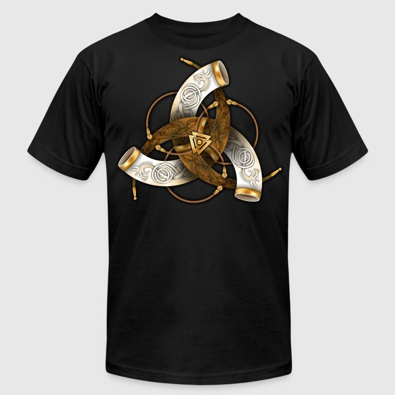 Odins Triple Horns - Men's Fine Jersey T-Shirt