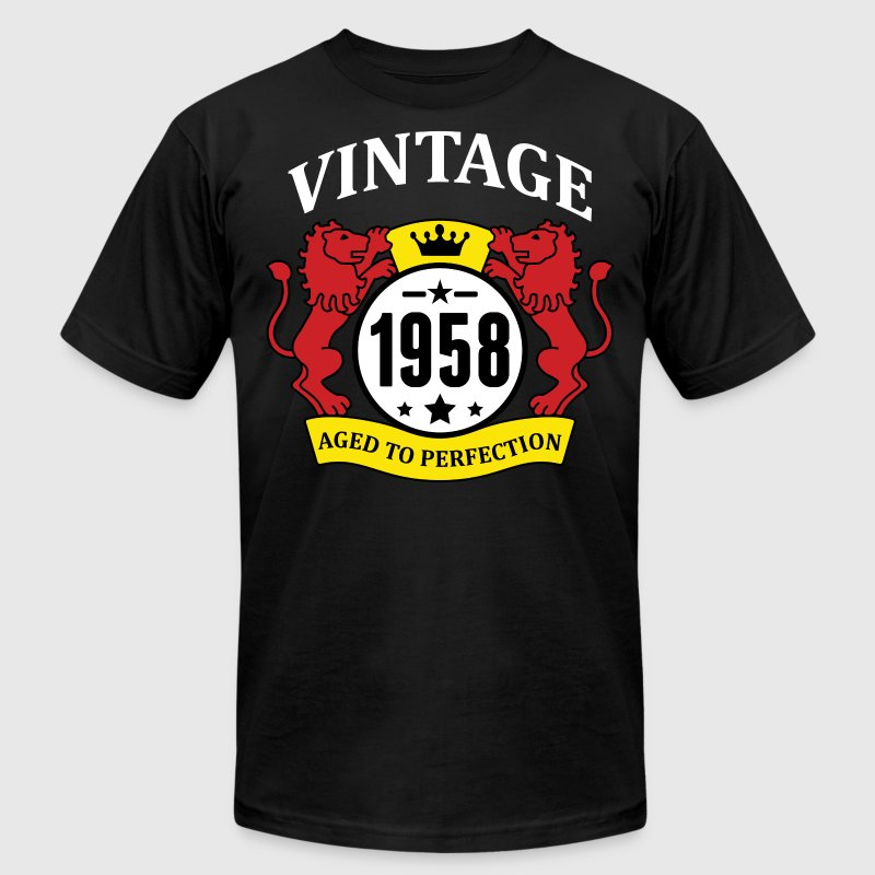 Vintage 1958 Aged to Perfection - Men's Fine Jersey T-Shirt
