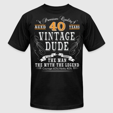 Aged 40 Years VINTAGE DUDE AGED 40 YEARS - Men's Fine Jersey T-Shirt