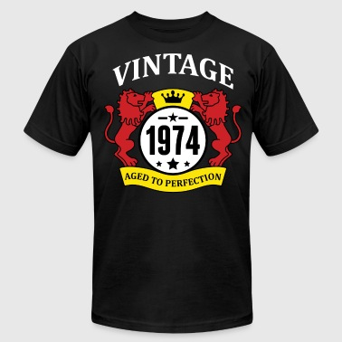 Made In 1974 Vintage Aged To Perfection Vintage 1974 Aged to Perfection - Men's Fine Jersey T-Shirt