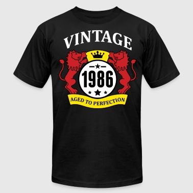 1986 Aged To Perfection Vintage 1986 Aged to Perfection - Men's Fine Jersey T-Shirt