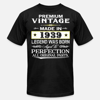 19ad04999 Vintage 1939 Birthday PREMIUM VINTAGE 1939 - Men's Jersey T-Shirt