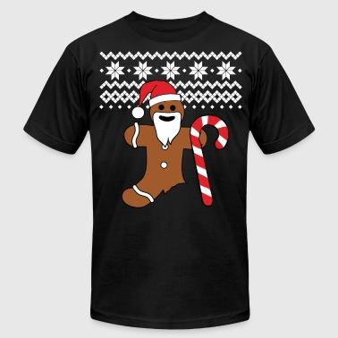 Gingerbread bad christmas sweater gingerbread man design - Men's Fine Jersey T-Shirt