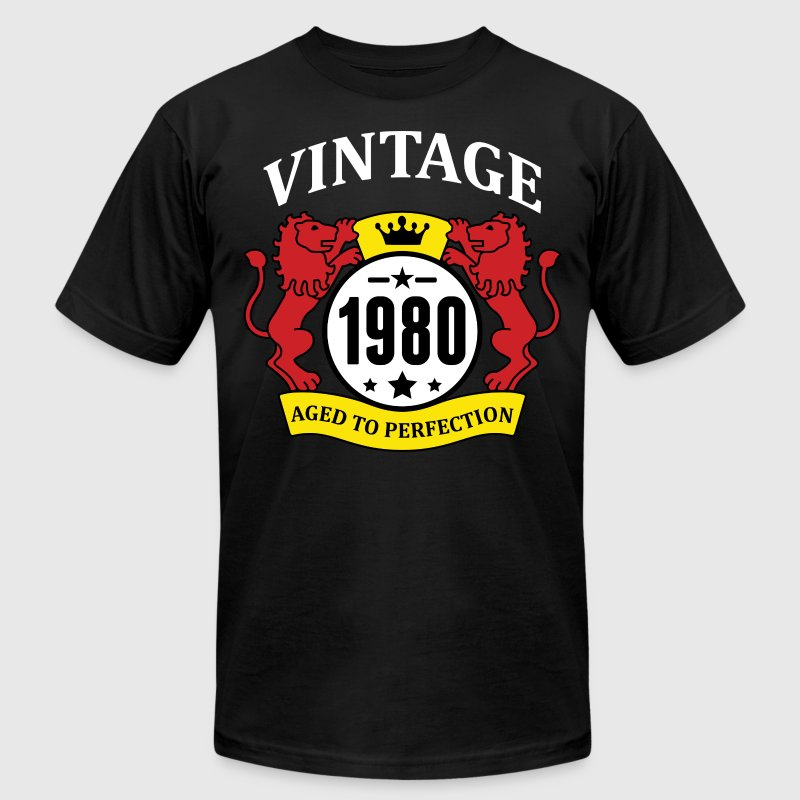 Vintage 1980 Aged to Perfection - Men's Fine Jersey T-Shirt