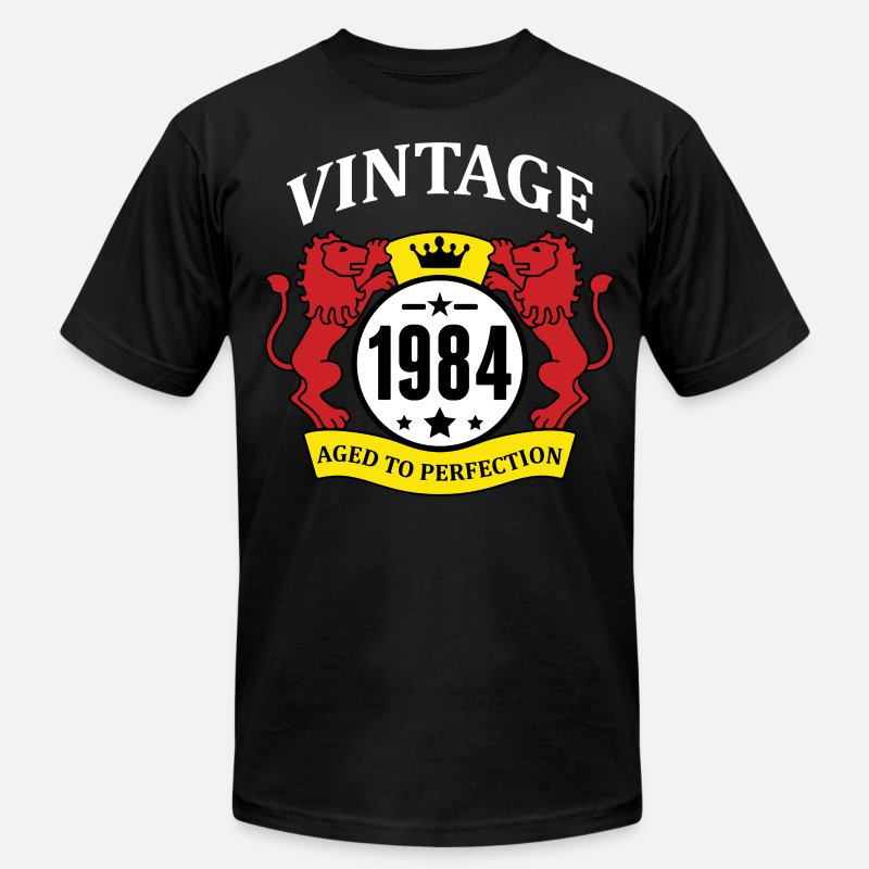 Vintage T-Shirts - Vintage 1984 Aged to Perfection - Men's Jersey T-Shirt black