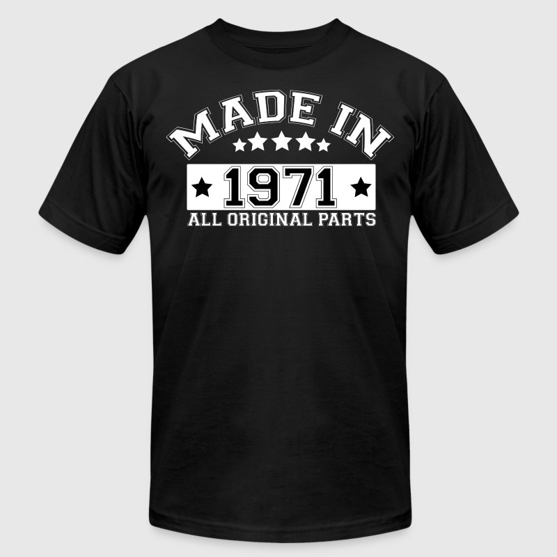 MADE IN 1971 ALL ORIGINAL PARTS - Men's Fine Jersey T-Shirt