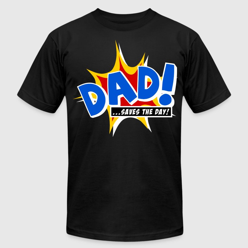 Dad saves the day - Men's Fine Jersey T-Shirt