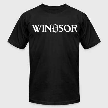Old English Kids Windsor Detroit Canada Michigan Tee T-Shirt TShir - Men's Fine Jersey T-Shirt