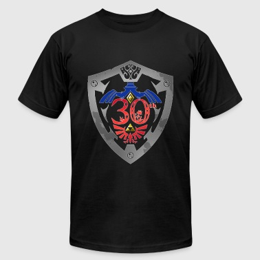 Zelda 30th Anniversary Black - Men's Fine Jersey T-Shirt