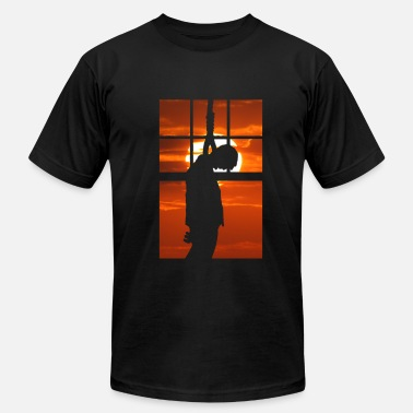 Suicide Satire Hang Man - Hanged at sunset - Men's  Jersey T-Shirt