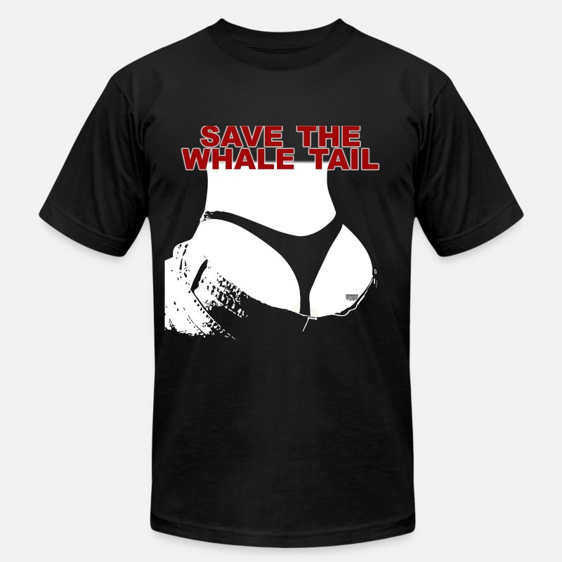 Sexy T-Shirts - Save The Whale Tail  Men's T-Shirt by American App - Men's Jersey T-Shirt black