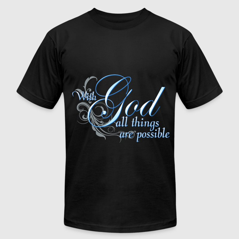 Christian Gift With God All Things Are Possible - Men's Fine Jersey T-Shirt