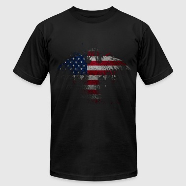 American Eagle Flag - Men's Fine Jersey T-Shirt