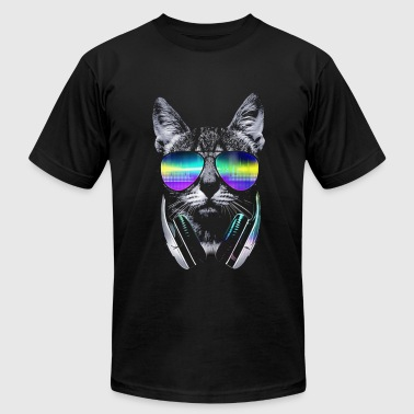 Psychedelic Kitty  - Men's Fine Jersey T-Shirt